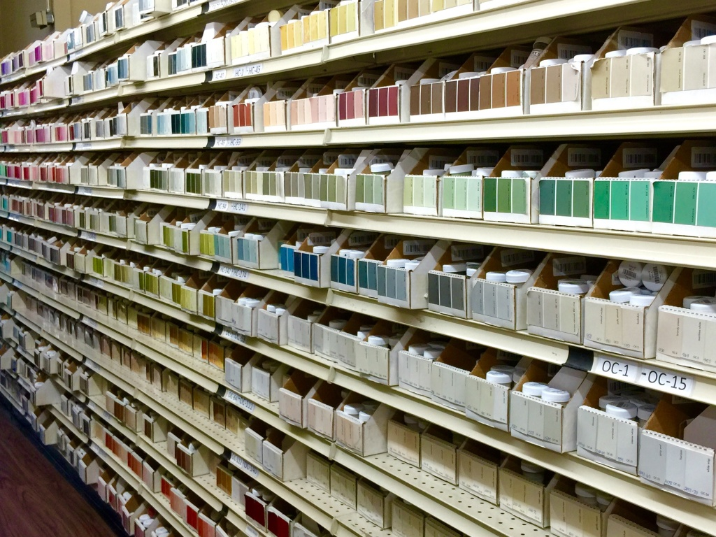 2oz vials of paint samples at Guiry's