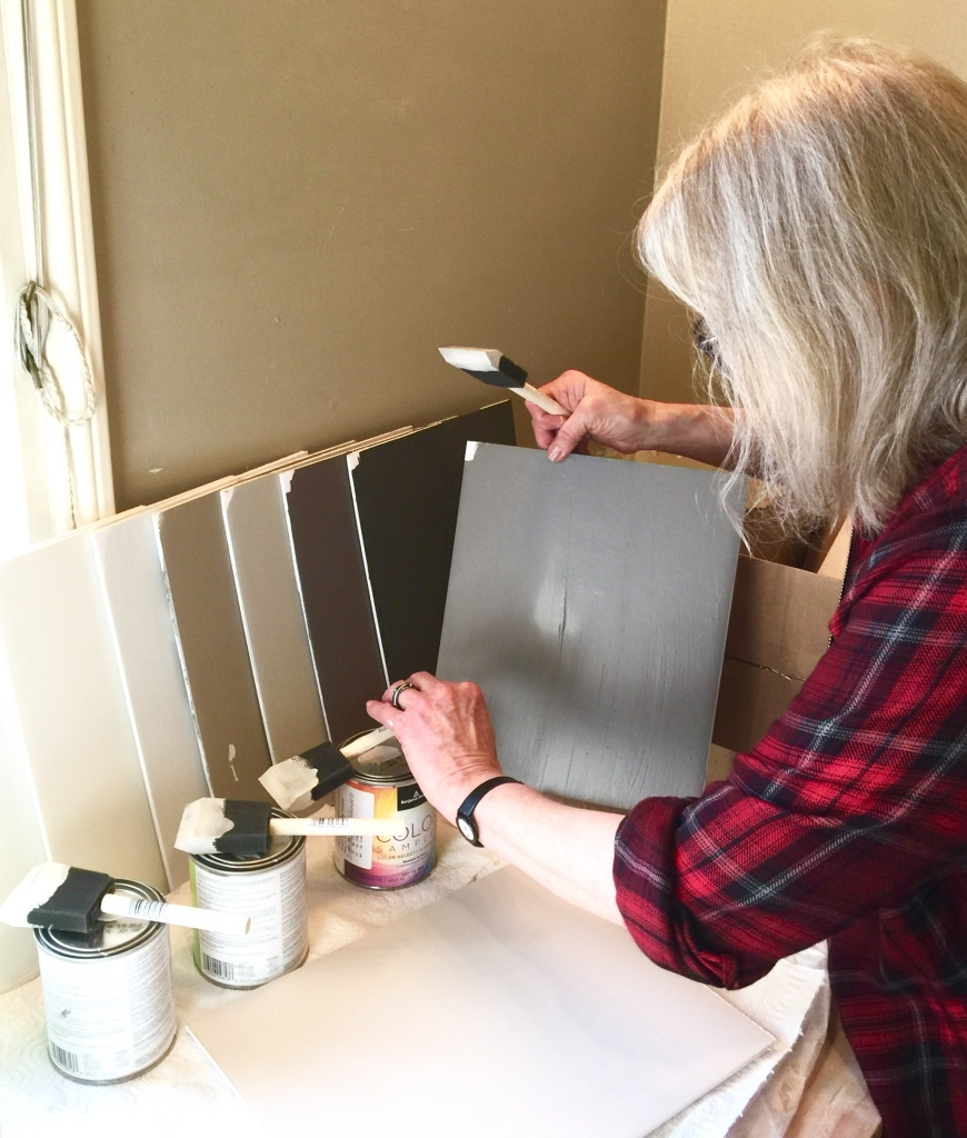 My Favorite Part - Painting Color Boards!