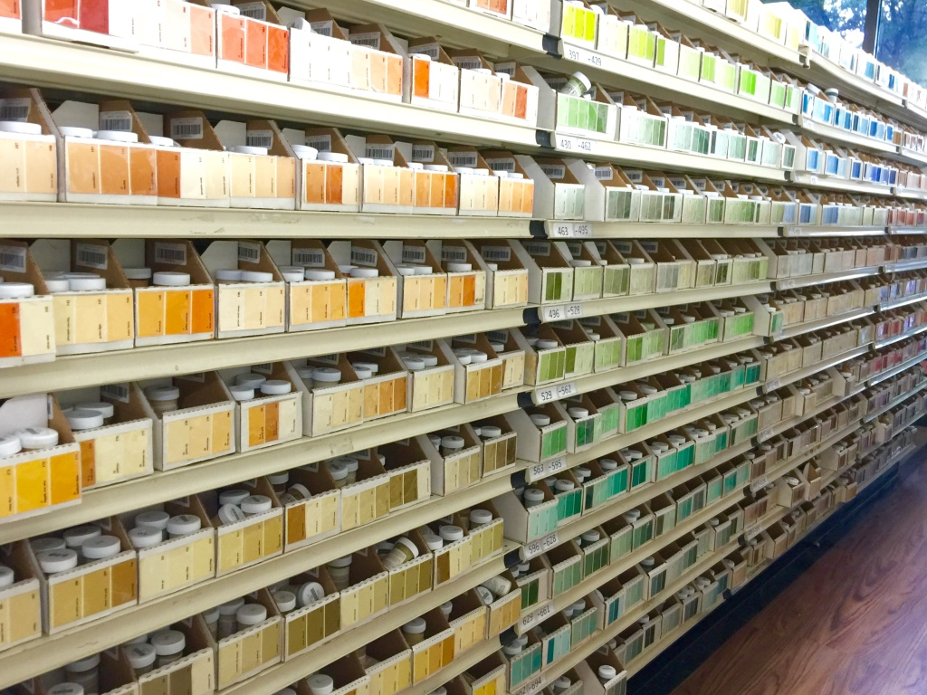 more 2oz vials of paint samples at Guiry's